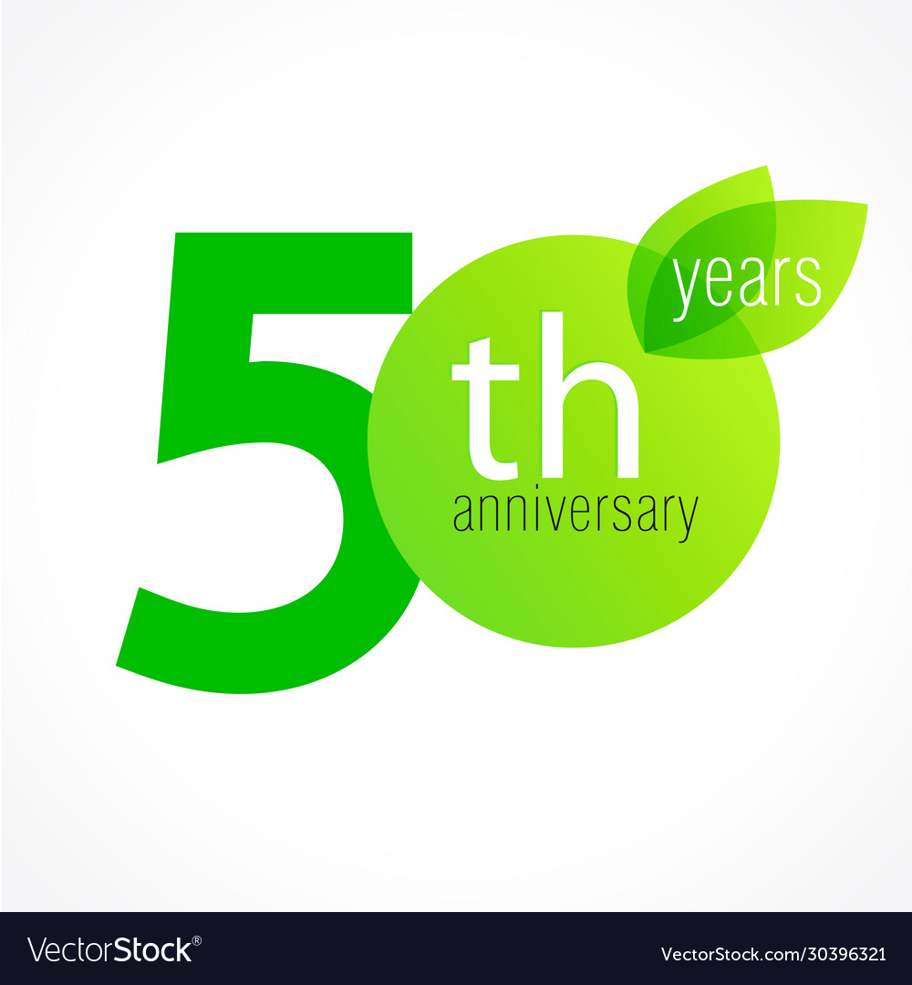 50 anniversary green logo