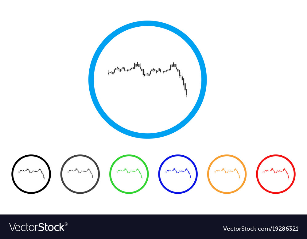Candlestick graph falling acceleration rounded