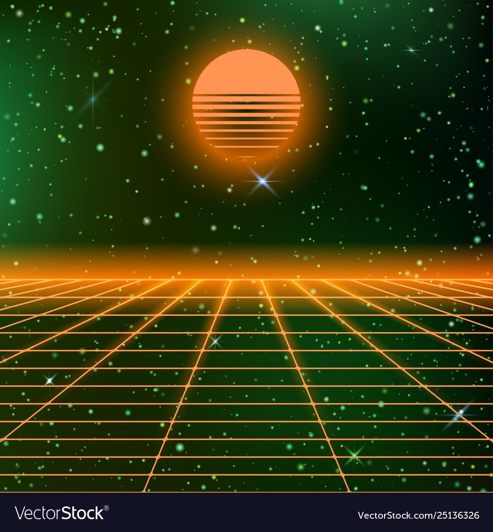 80s background with neon grids