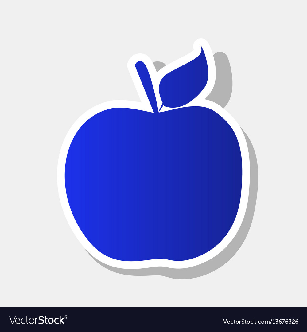 apple sign new year bluish royalty free vector image