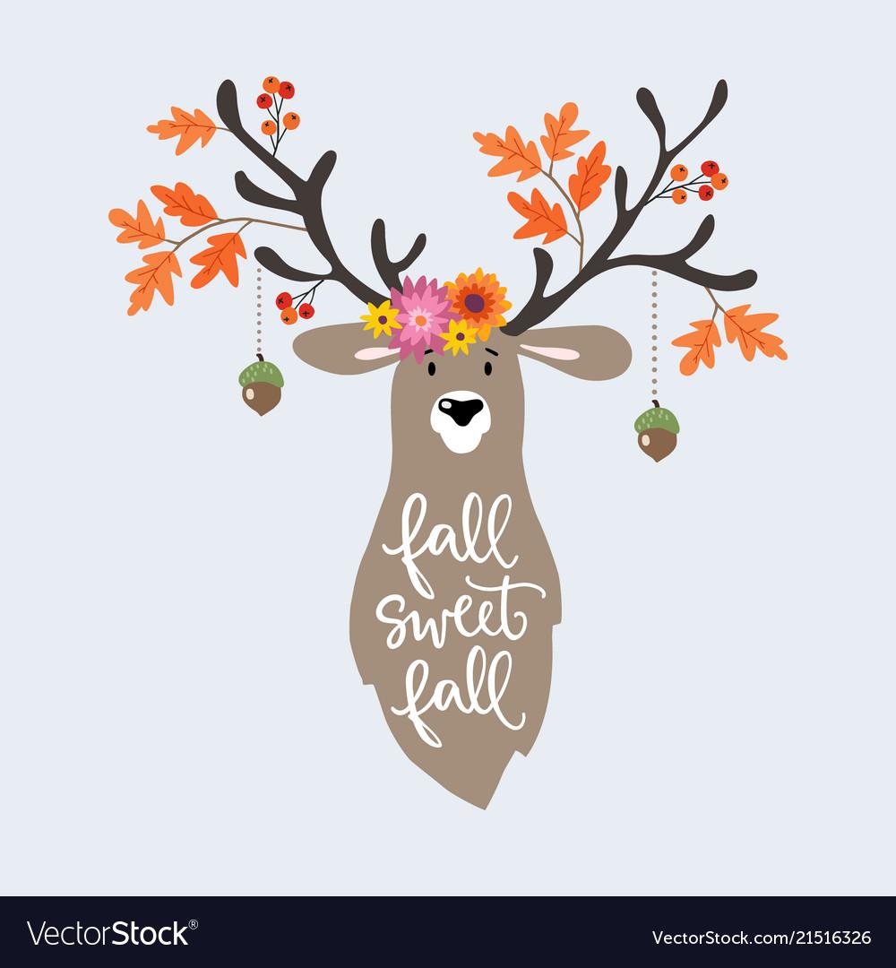 Autumn greeting card invitation hand drawn