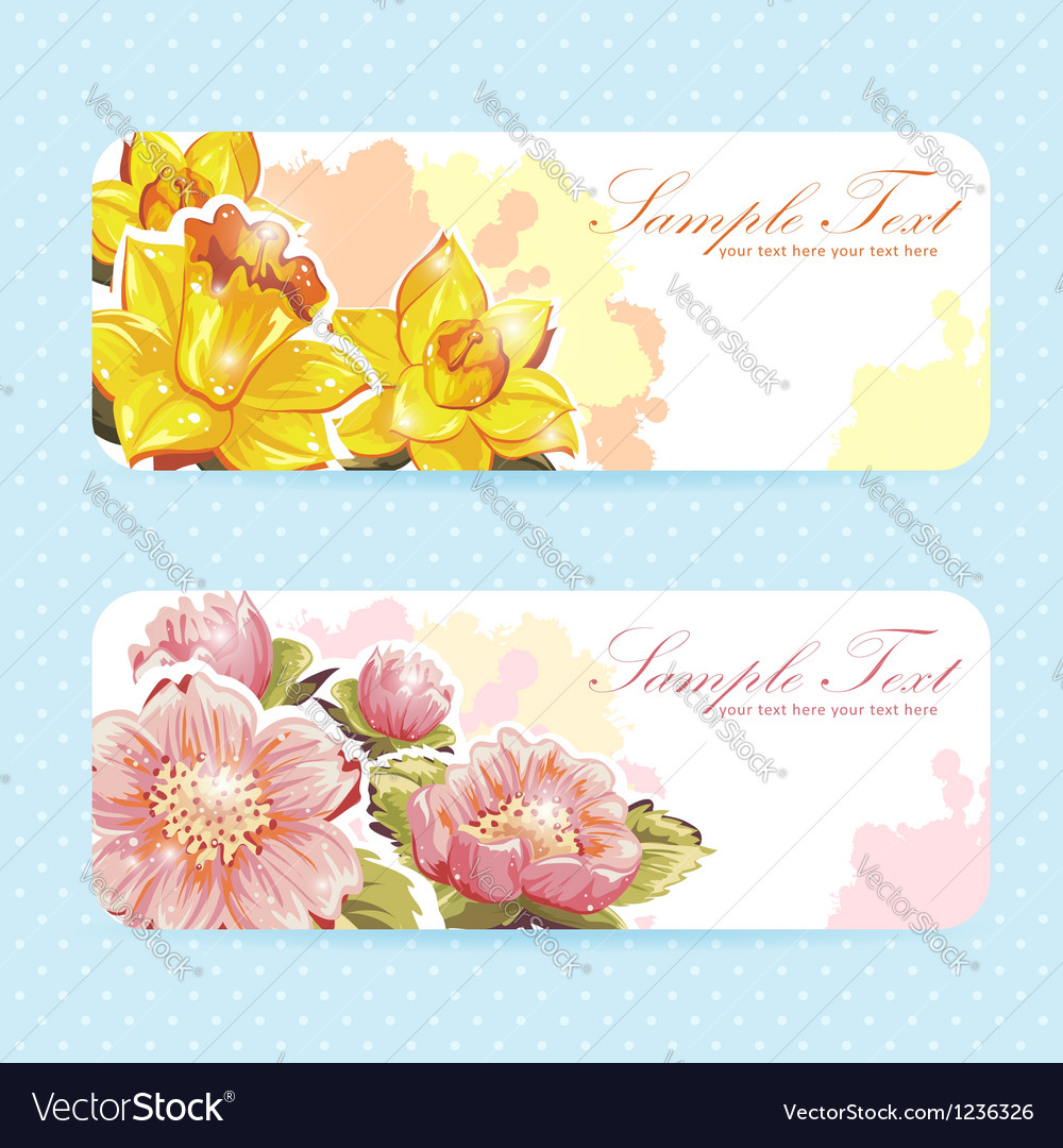 Beautiful flower sticker postcards