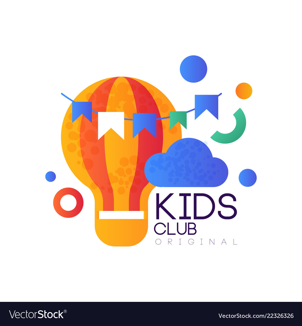 Kids land club logo original creative label