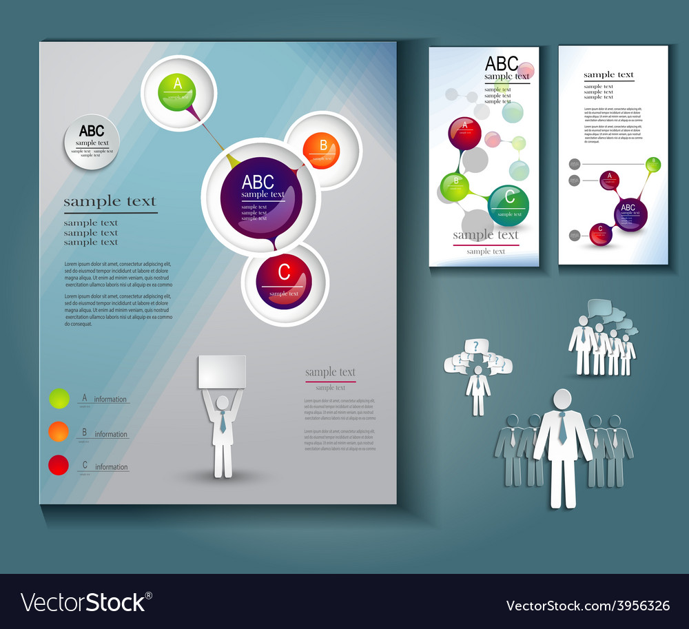Layout Of Brochures And Flyers Royalty Free Vector Image
