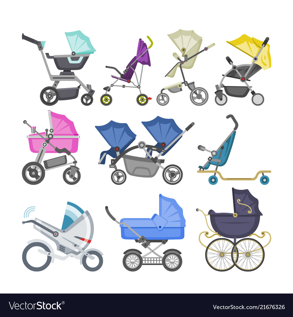 Stroller baby-stroller and kids buggy with