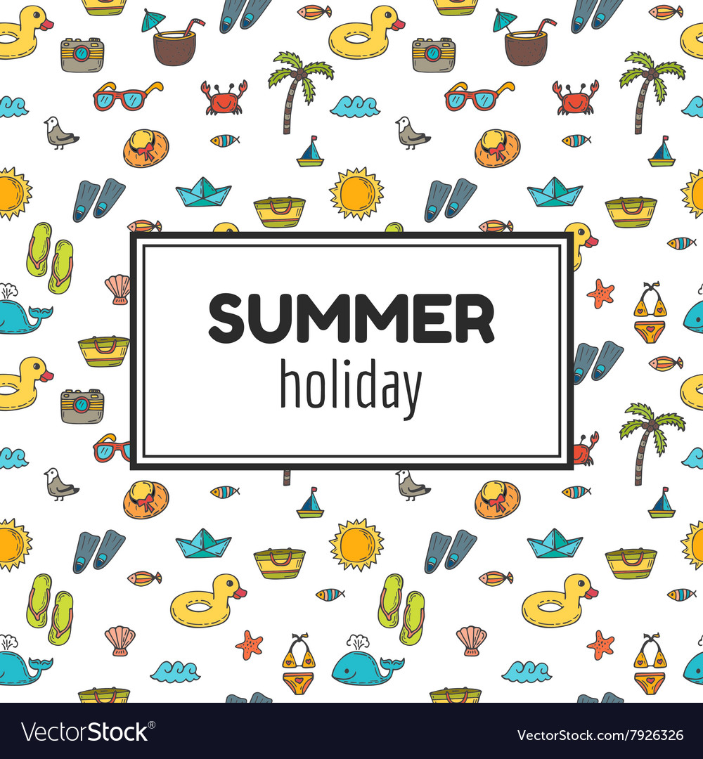 Summer holiday Summer tropical vacation background