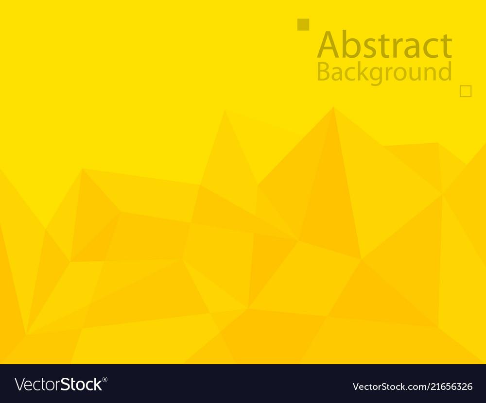 Yellow orange technology background triangle