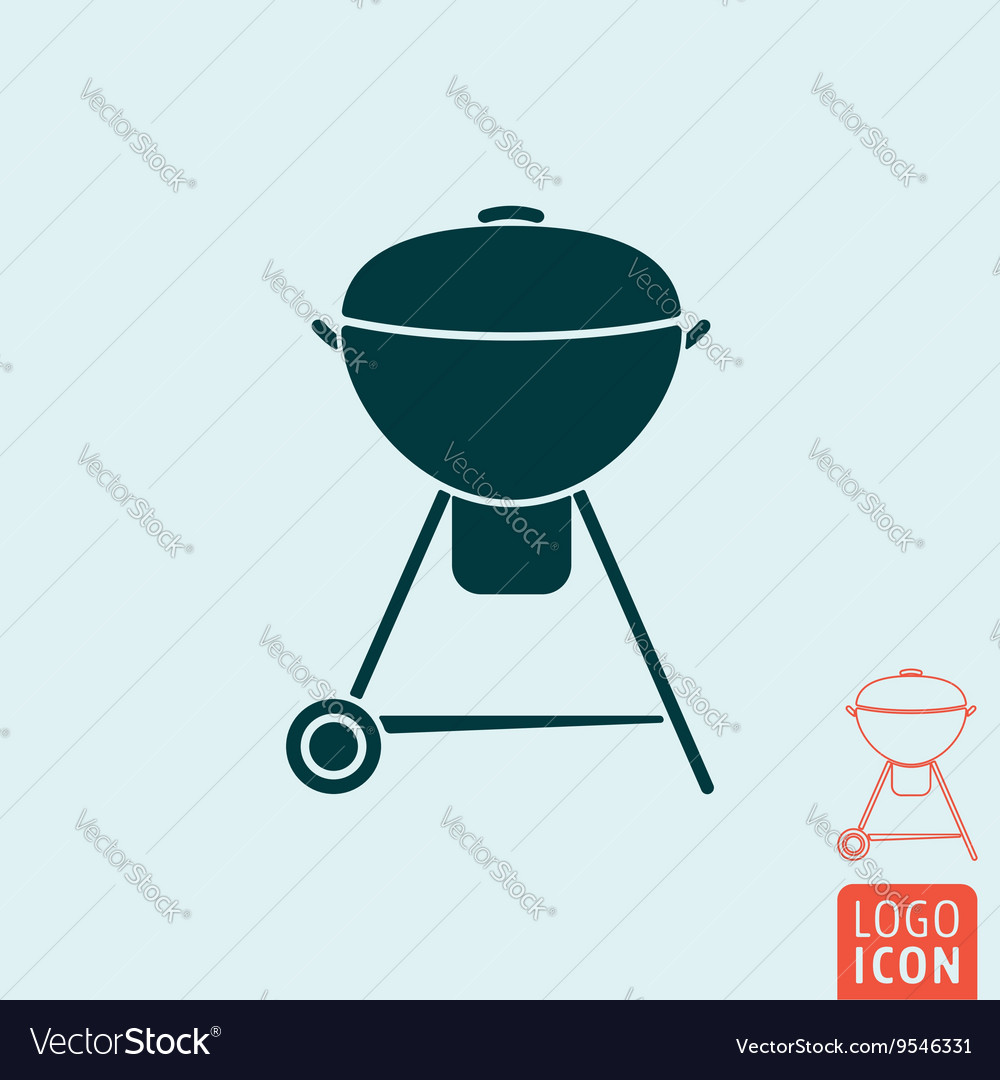 Barbecue icon isolated