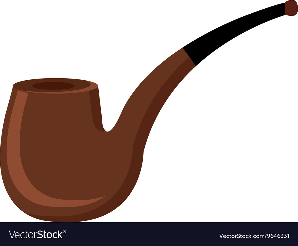 Black and brown pipe graphic vector image