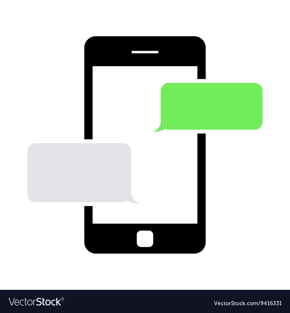 Black text messaging icon vector image