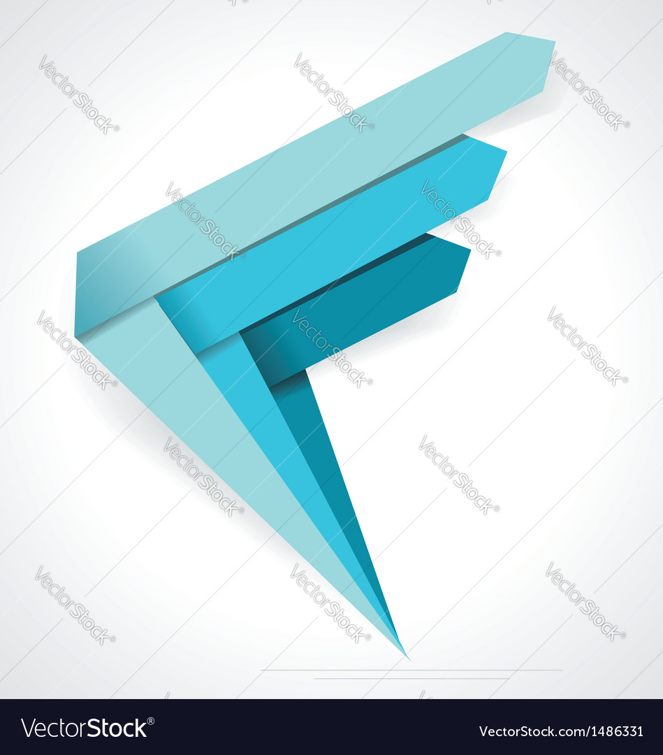 Business Abstract Arrows icon Corporate Media vector image