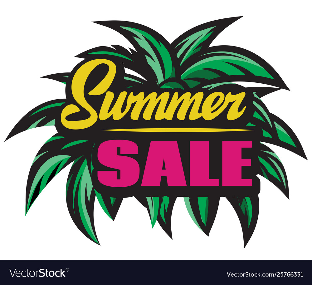 Color poster for summer sale with inscription