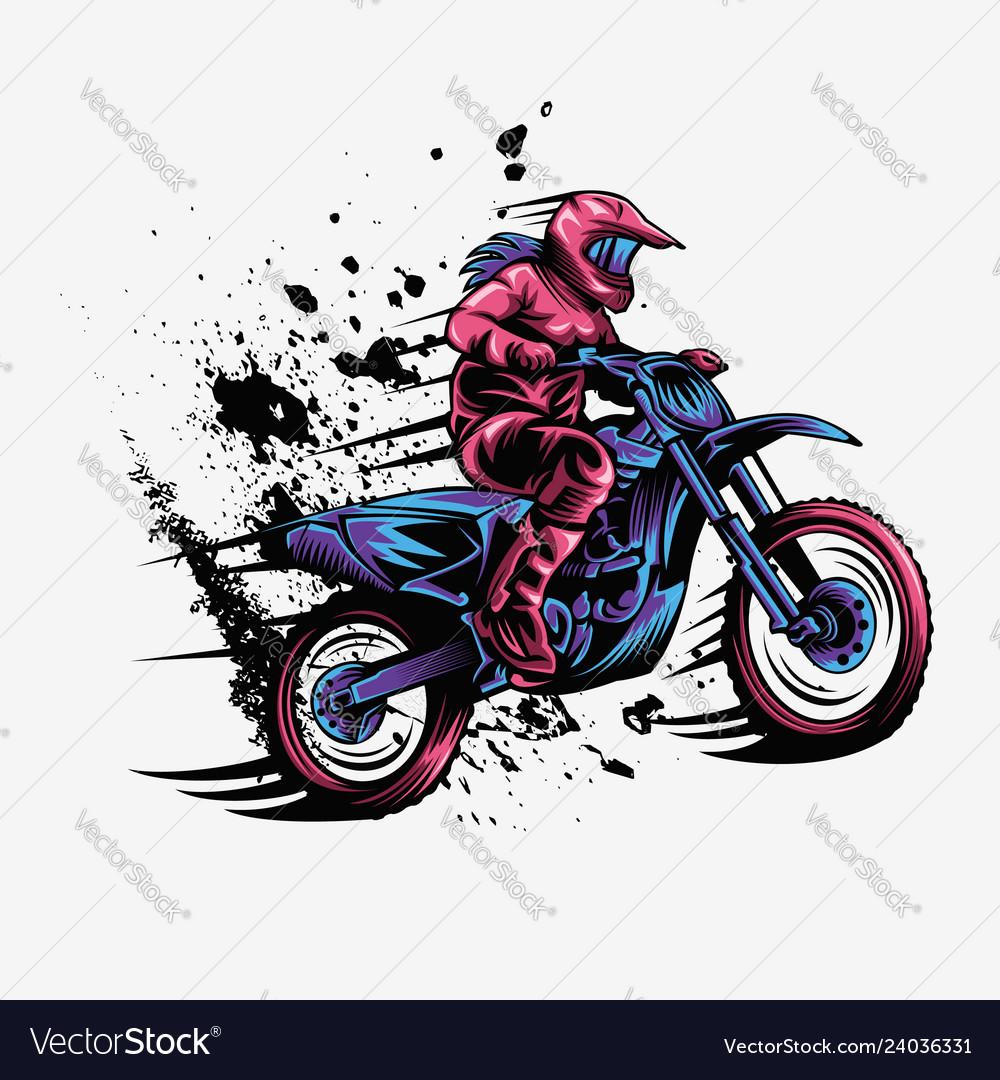Girl motocross design