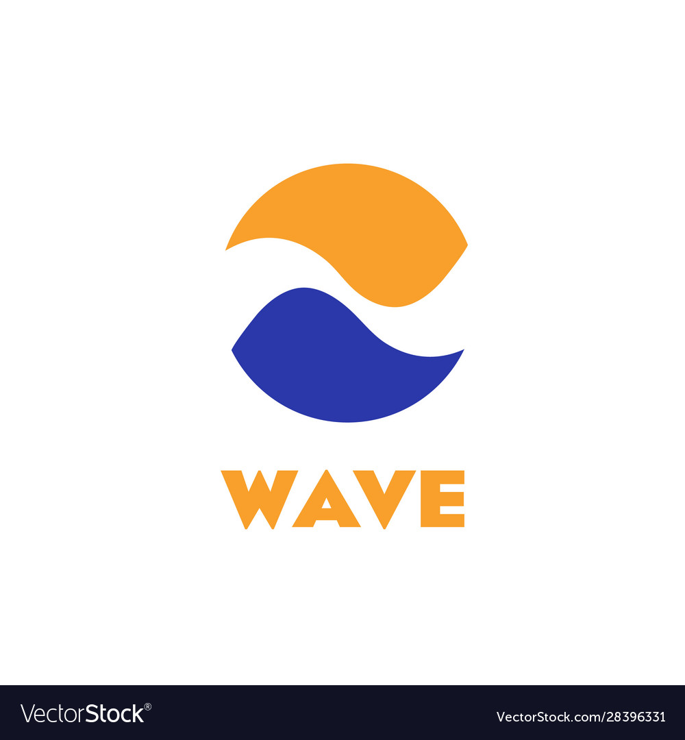 Isolated logo wave circle abstract