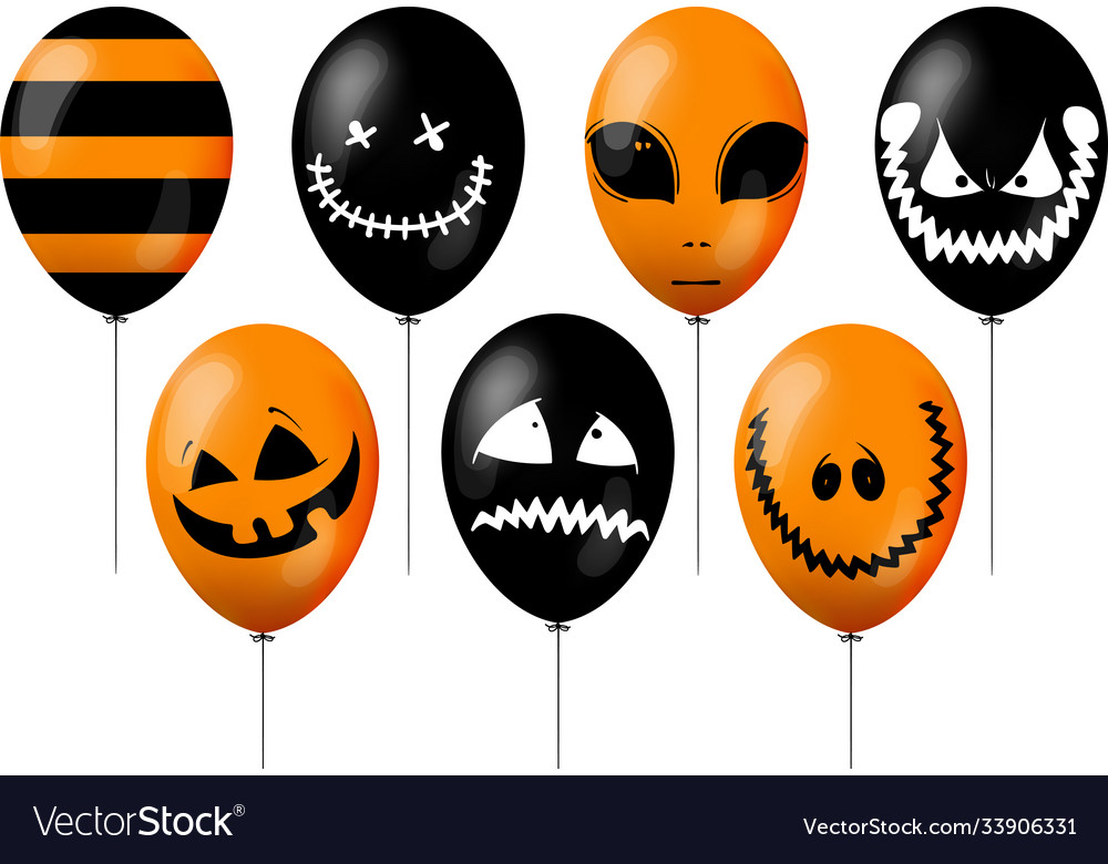 Orange and black balloons