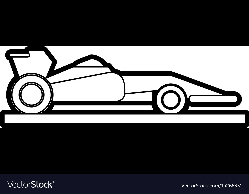 Race car silhouette vector image