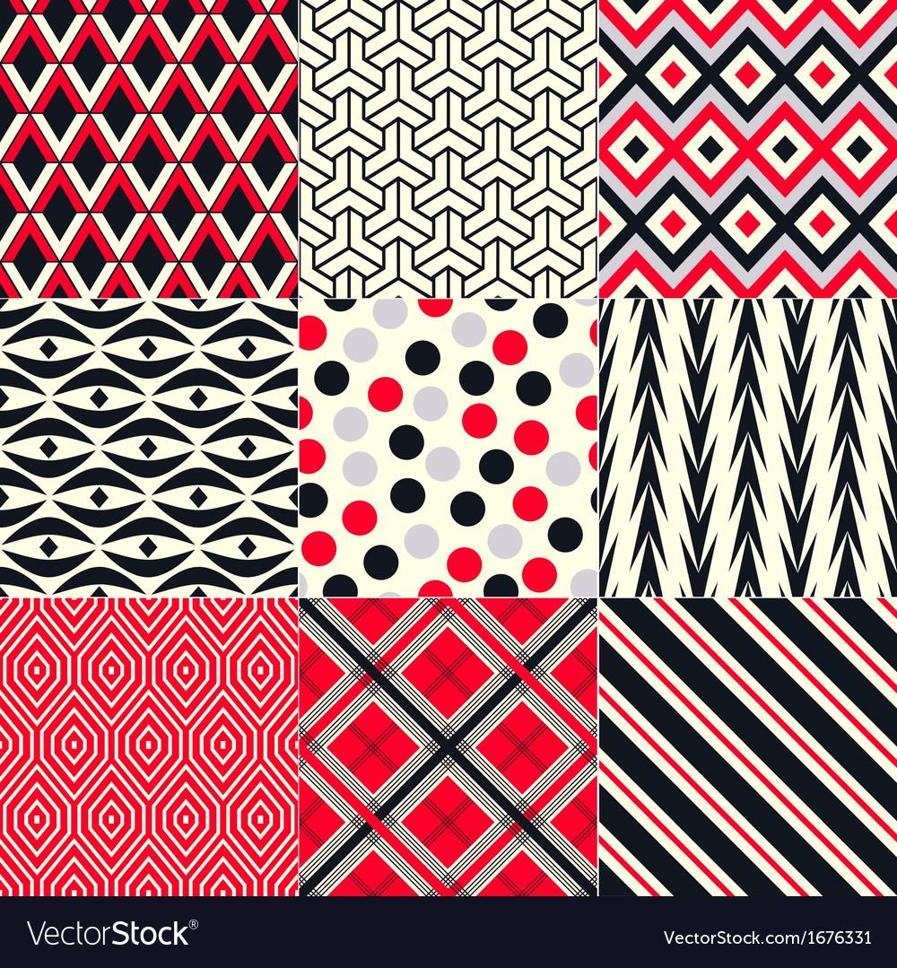 Seamless abstract geometric pattern