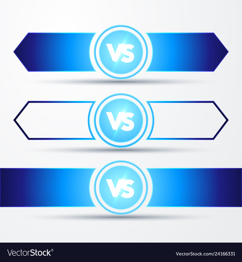 Vs logo versus board of rivals with space for text