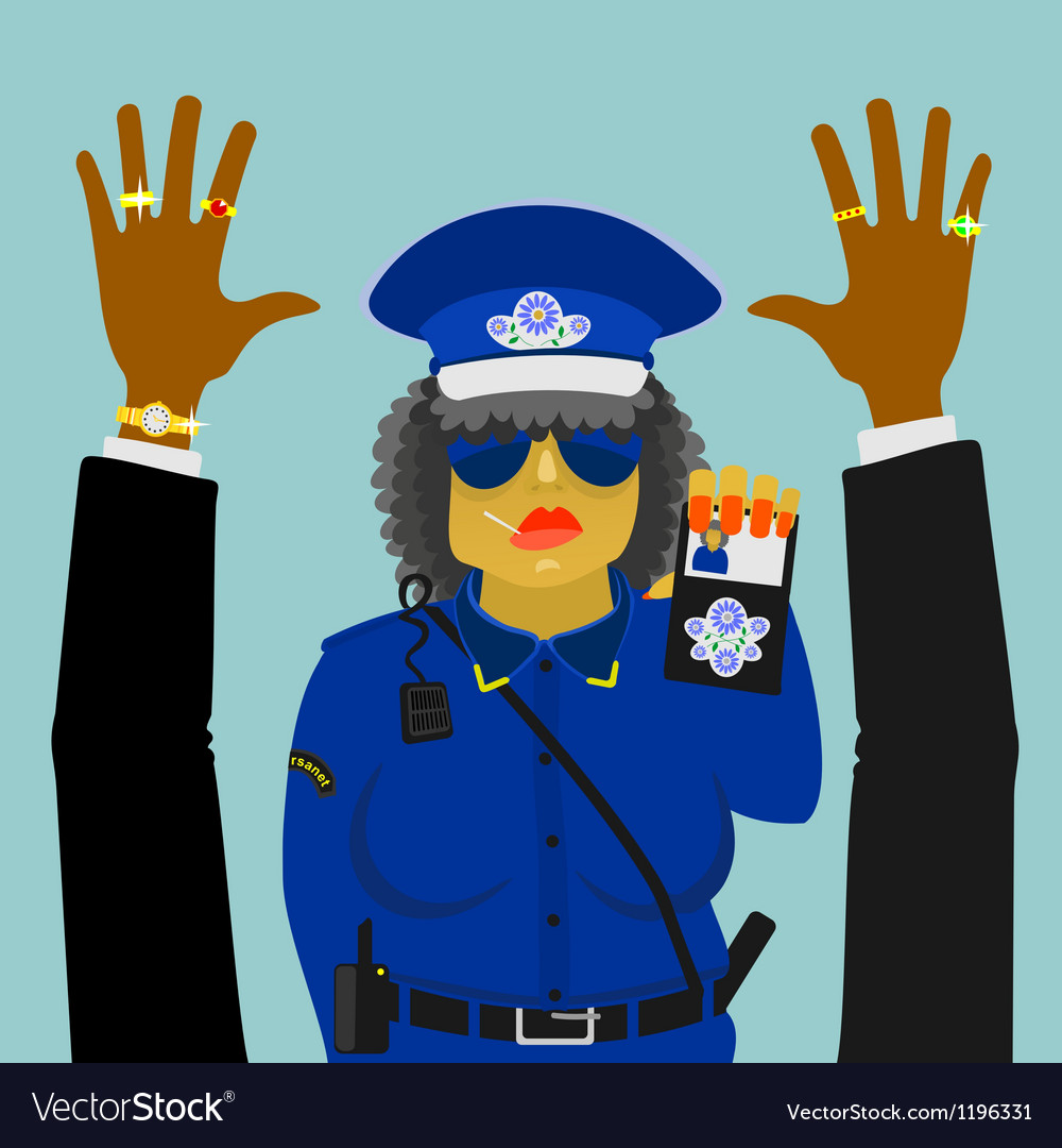 Woman police officer on the job