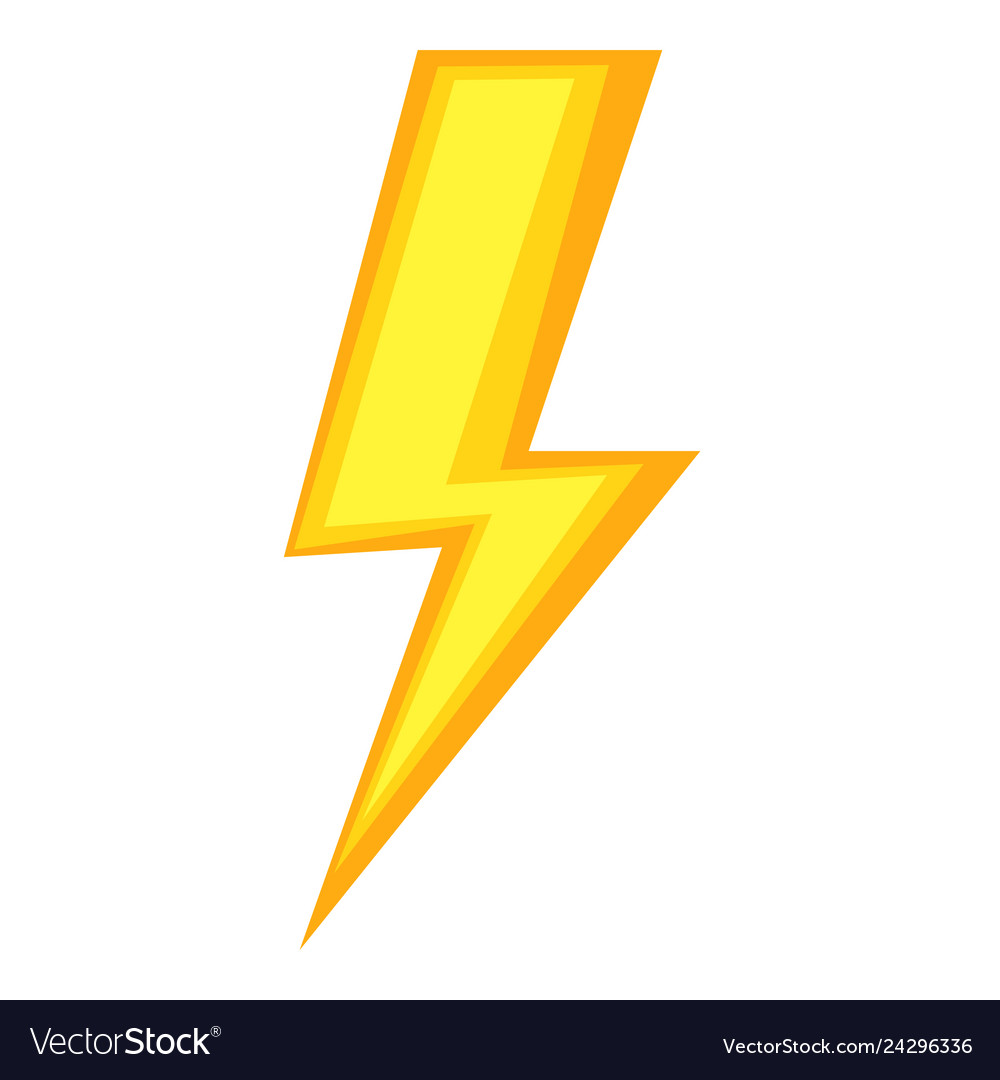 colorful cartoon energy symbol royalty free vector image vectorstock