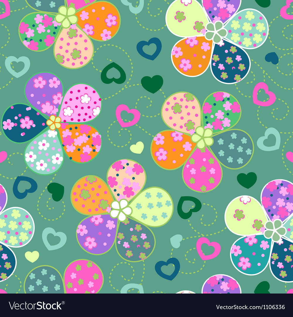Colorful floral seamless background