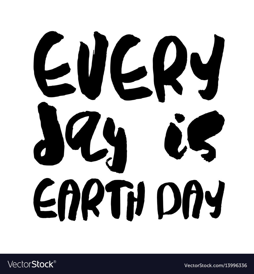 Earth day concept - decorative handdrawn lettering