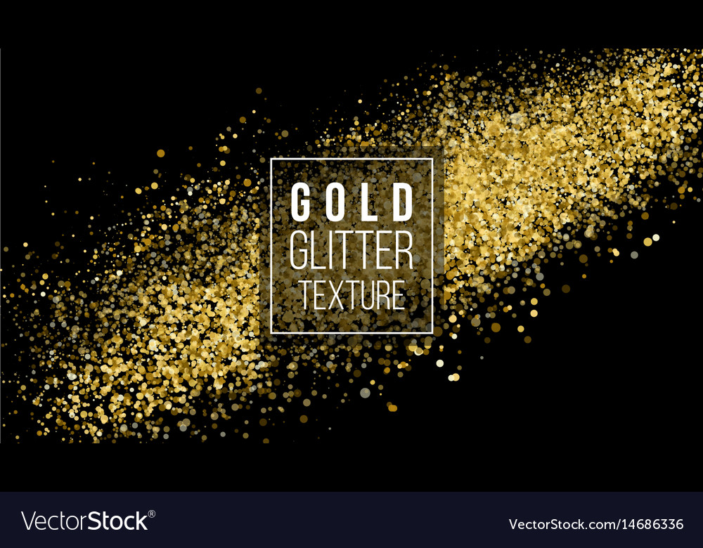 Gold glitter cloud or shining particles explosion