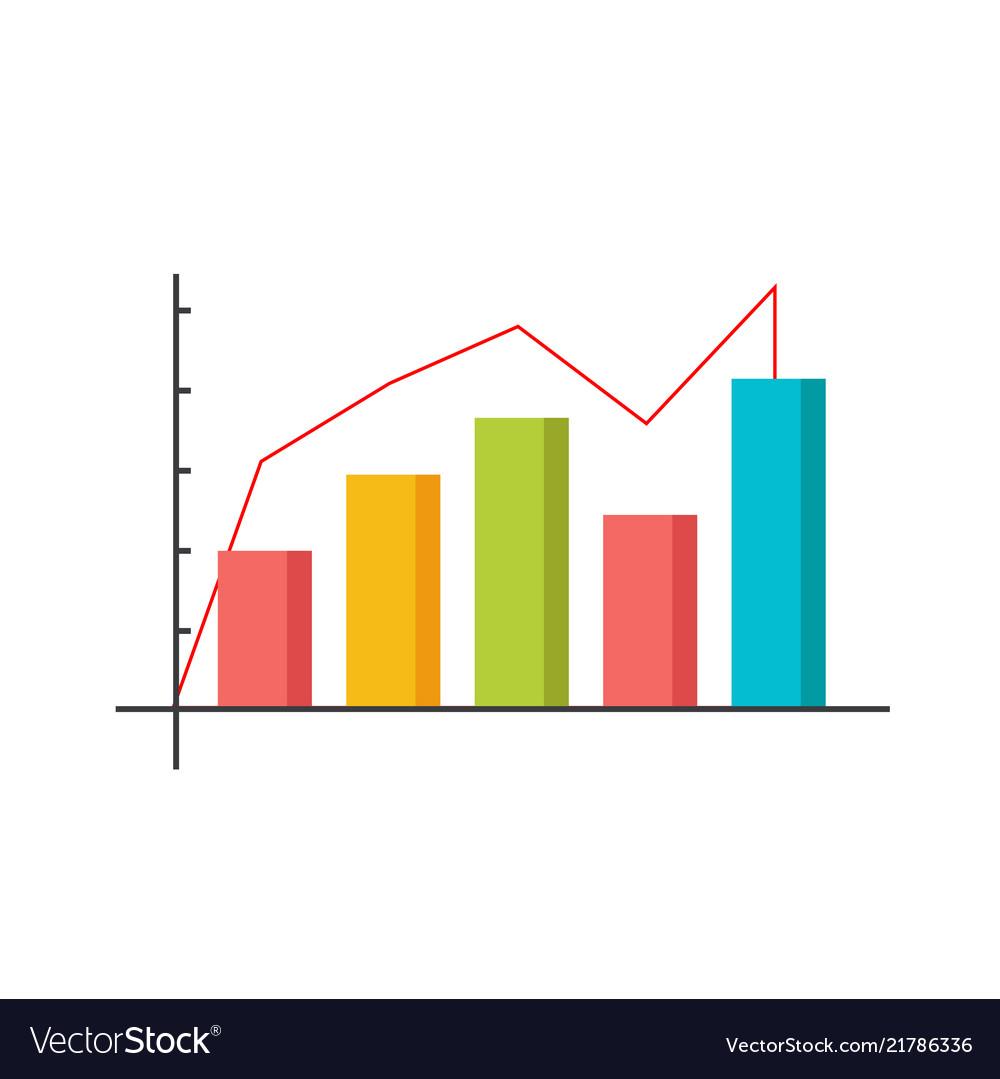 Infographic modern chart bar design image