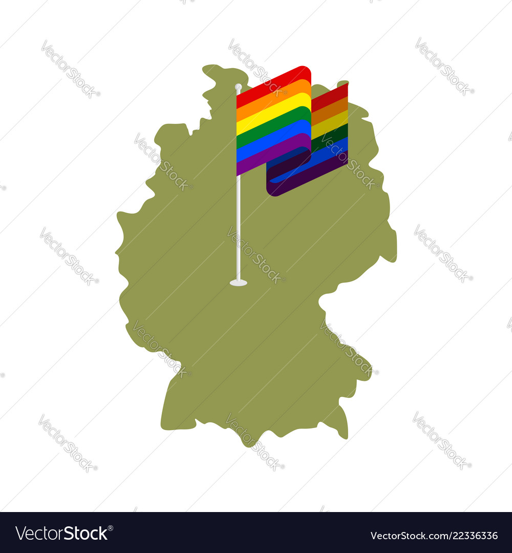 Map Of Deutschland Germany.Lgbt Germany Map Of Deutschland And Gay Flag Vector Image