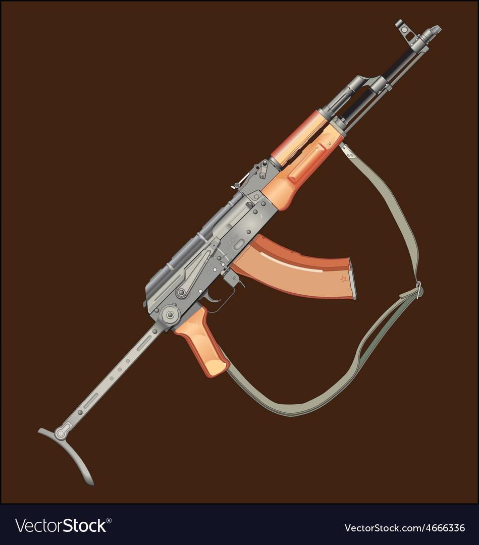 Realistic Ak47 Gun Royalty Free Vector Image Vectorstock