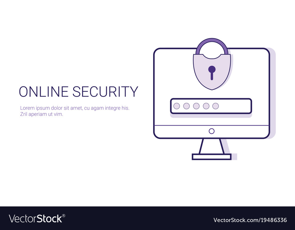 Security online business concept data protection