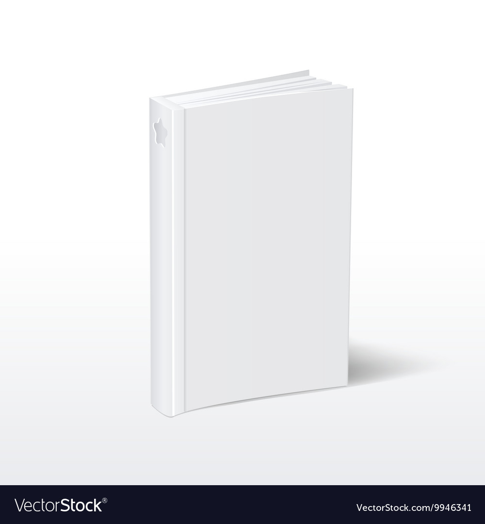 blank vertical white softcover book standing on vector image