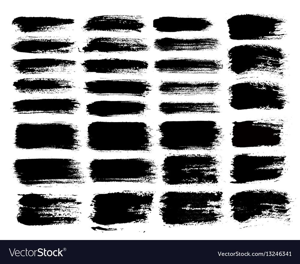 Brush strokes set 1
