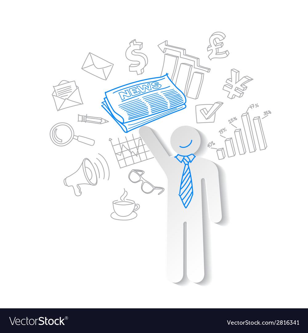 Business news team leader teamwork communication vector image