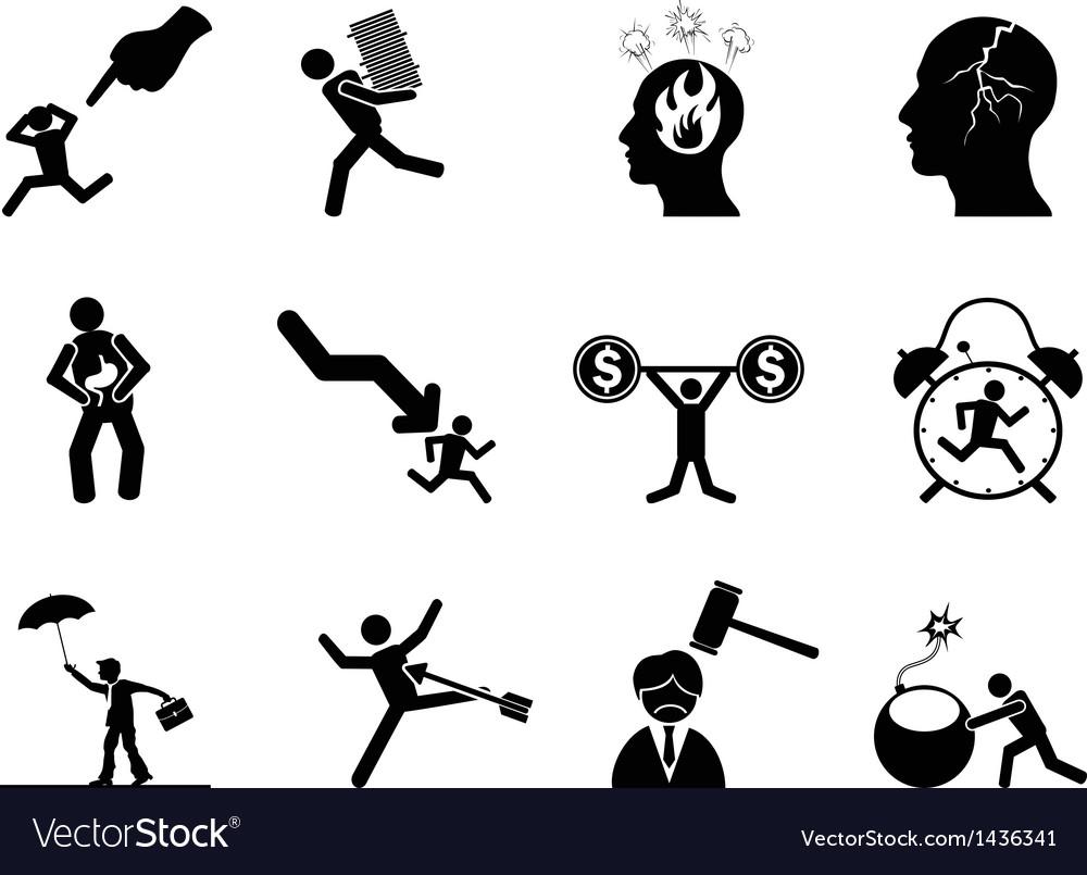 Businessman working Stressed icon