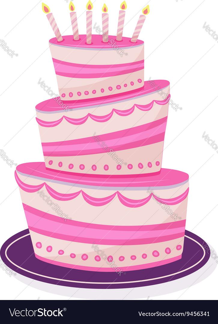 Cake on isolated background