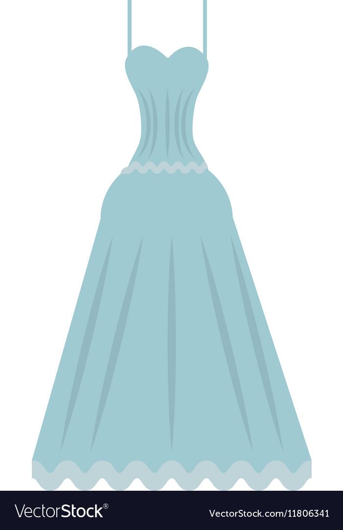 Cute wedding dress icon Royalty Free Vector Image