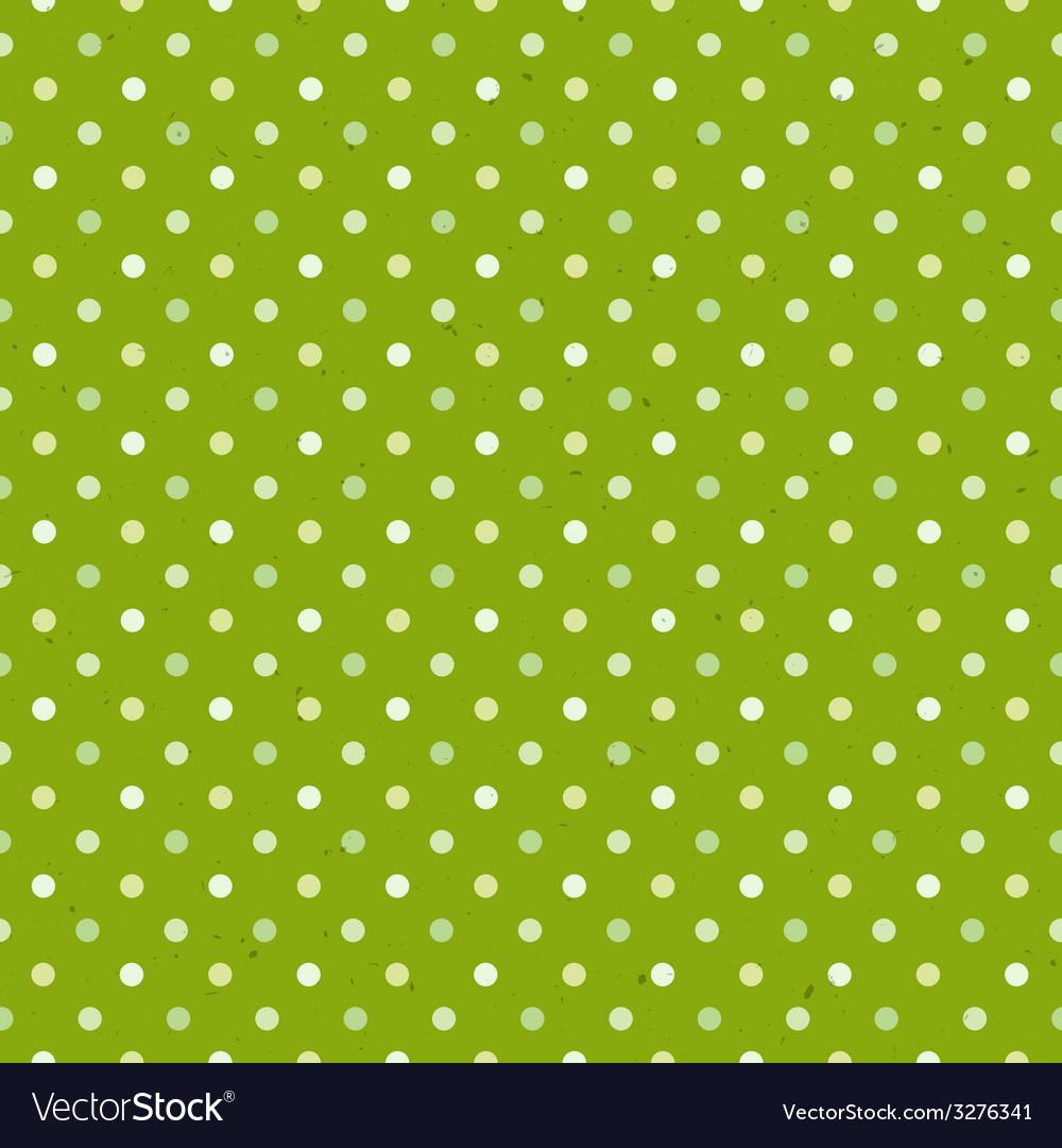 Green textured polka dot seamless pattern