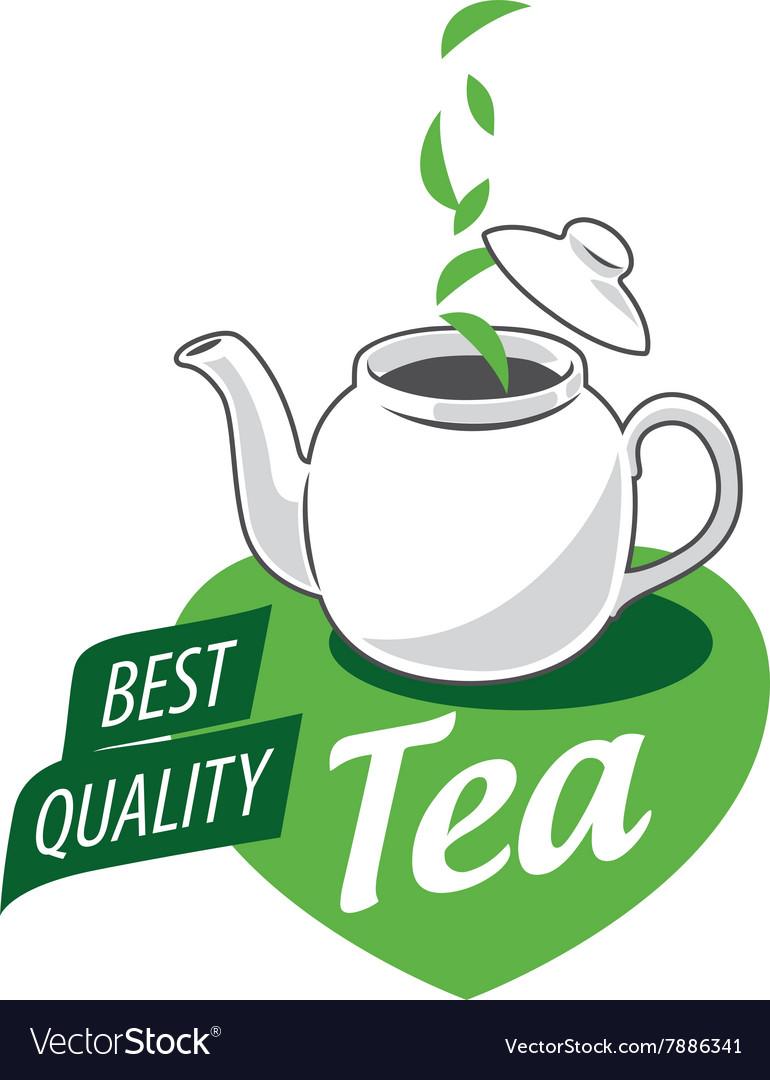 logo tea royalty free vector image vectorstock vectorstock