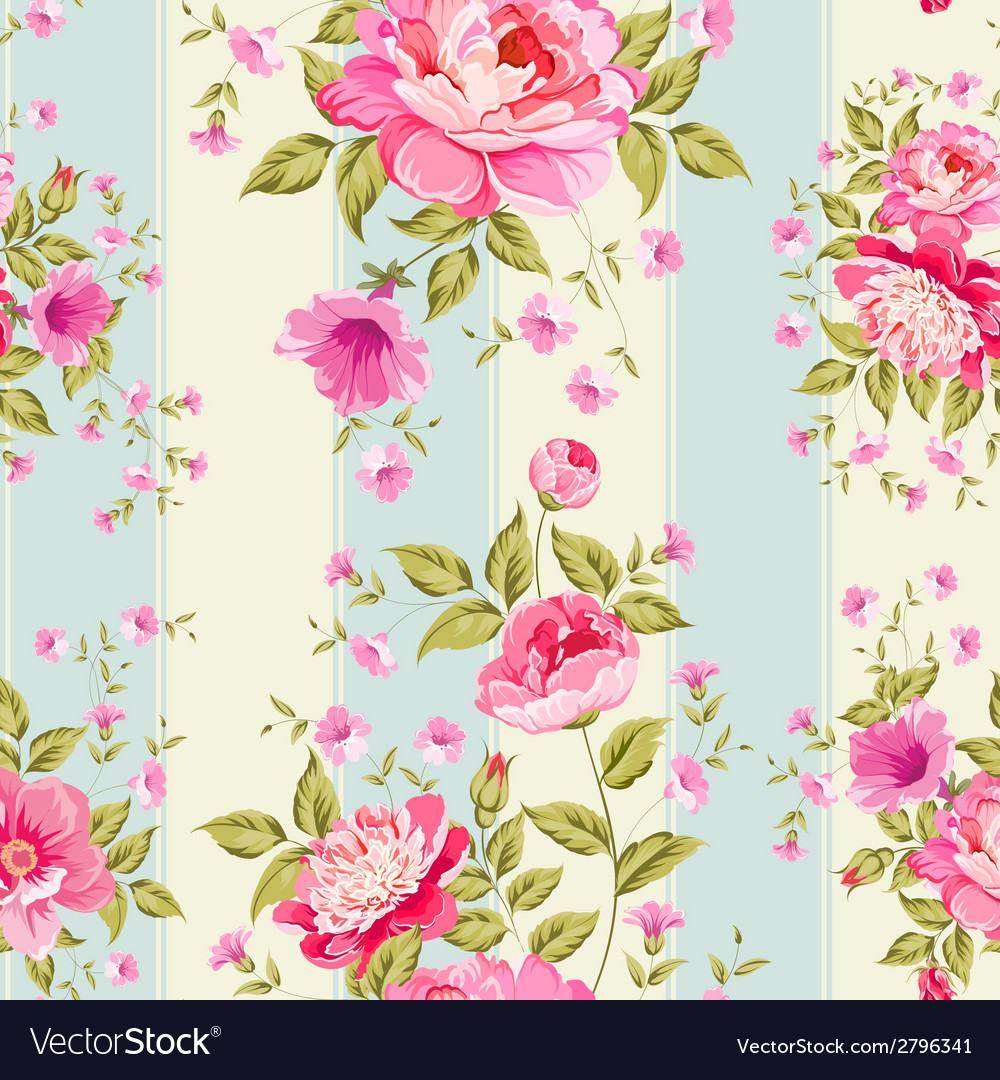 Luxurious flower wallapaper