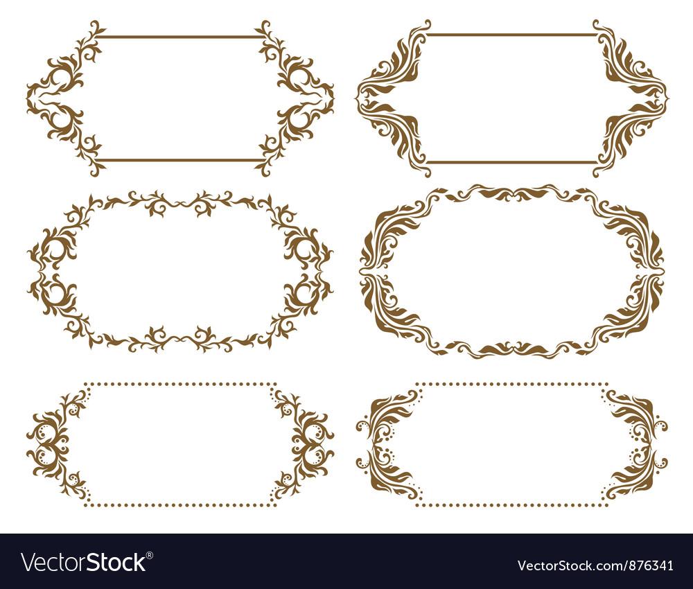 Set of ornate frames Royalty Free Vector Image