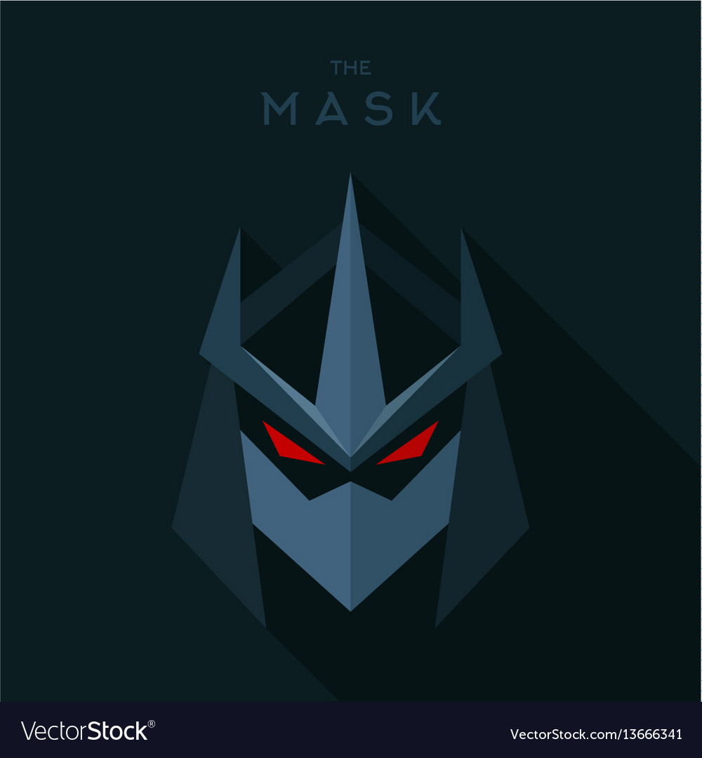 Villain antihero mask hero superhero flat style vector image