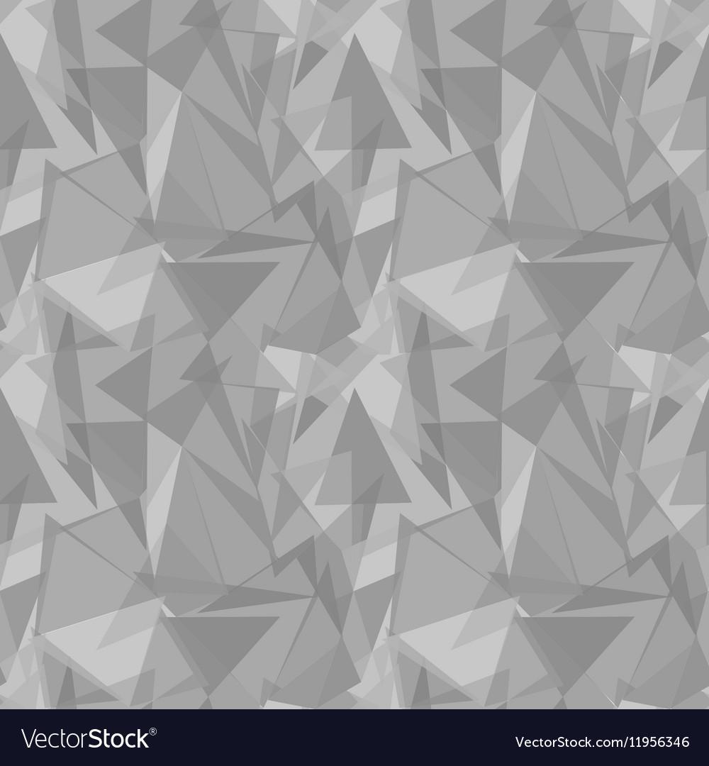 Abstract gray triangular seamless pattern