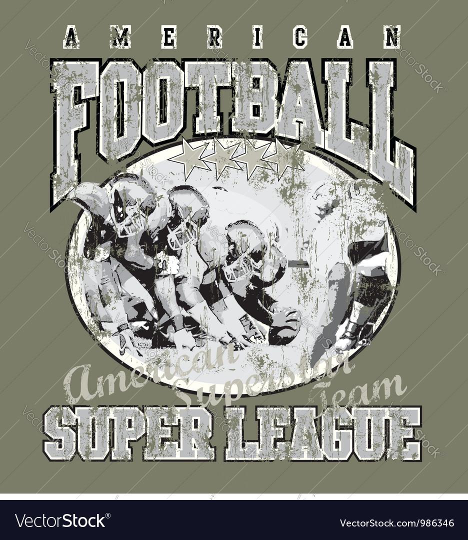 American football team vector image