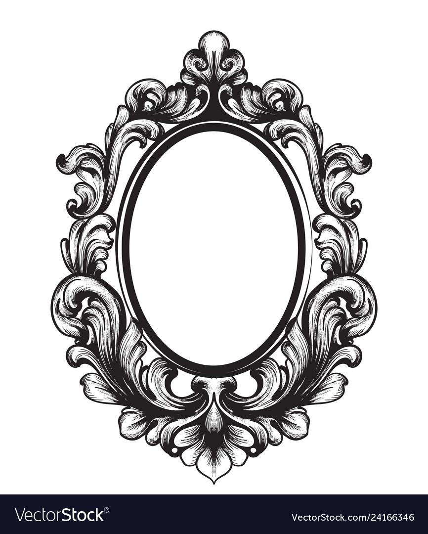 Baroque mirror frame french luxury rich