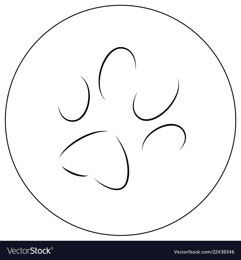 Contours of a cats paw print