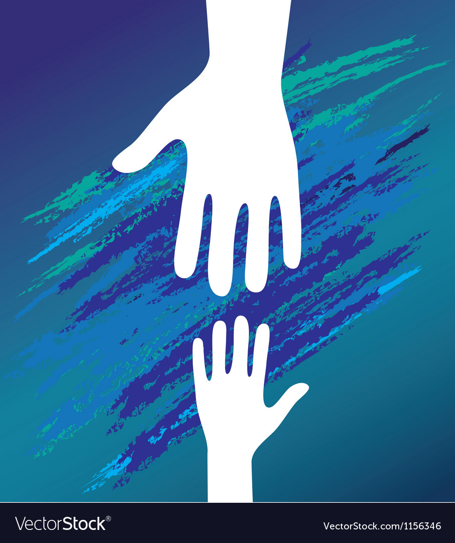 Hand helping vector image