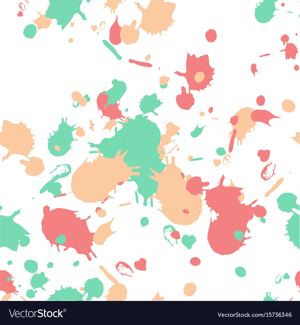 Swatches and paint strokes seamless wallpaper
