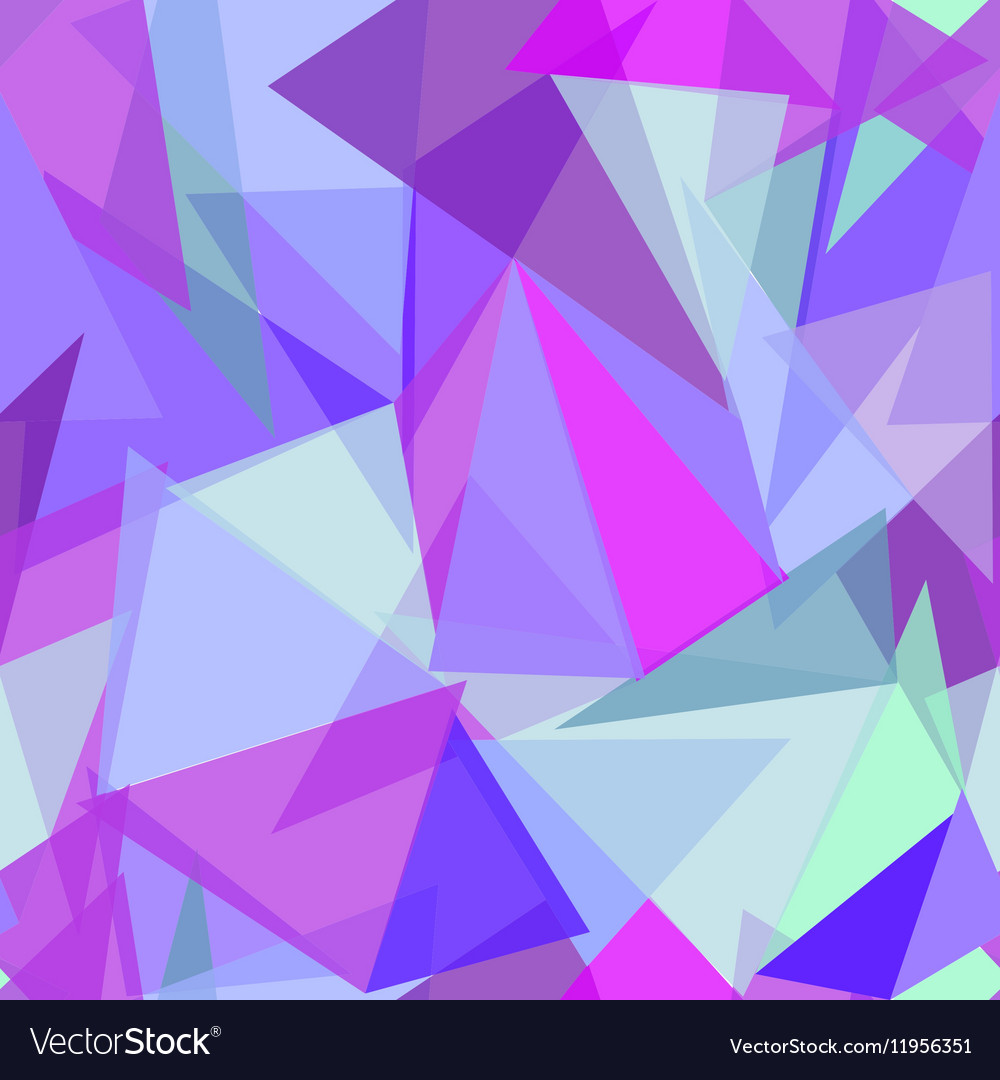 Abstract polygonal purple and blue triangular