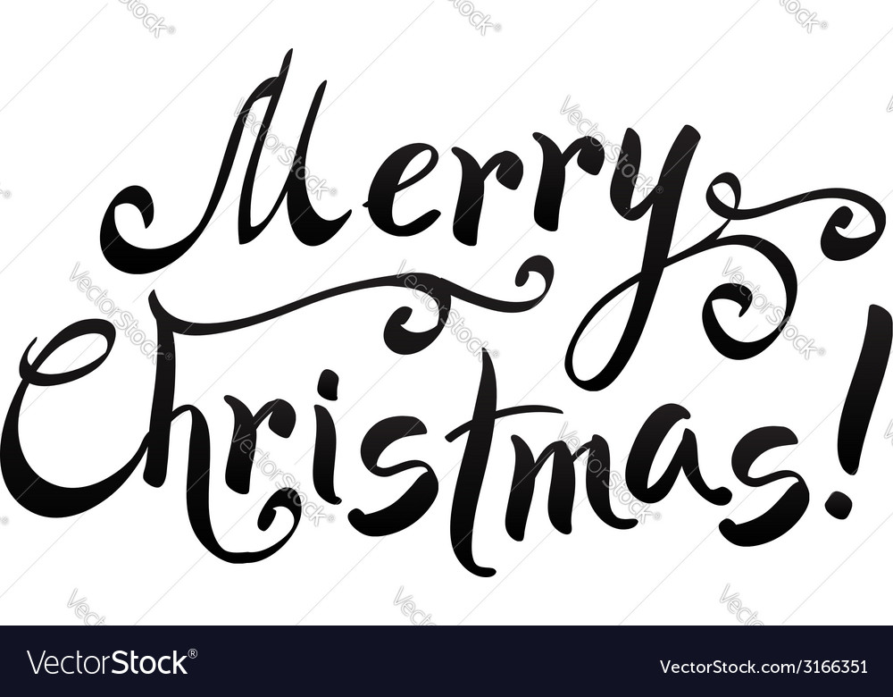Merry Christmas Writing Images.Black Merry Christmas Hand Writing Lettering
